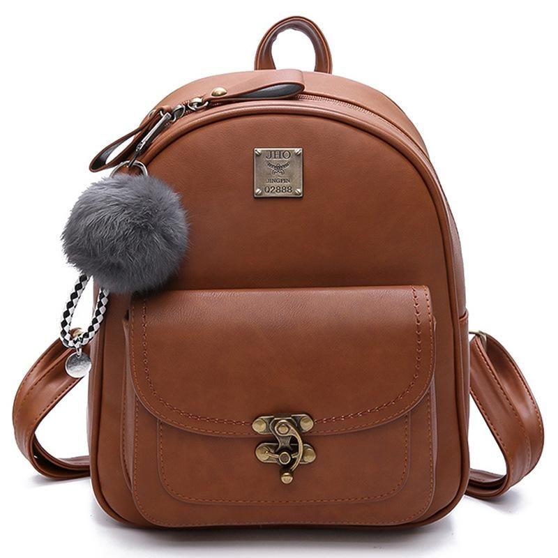 PU Leather Backpack Computer Backpack waterproof Backpack Large Capacity Rucksack School Bags Travel Rucksack for Girl new