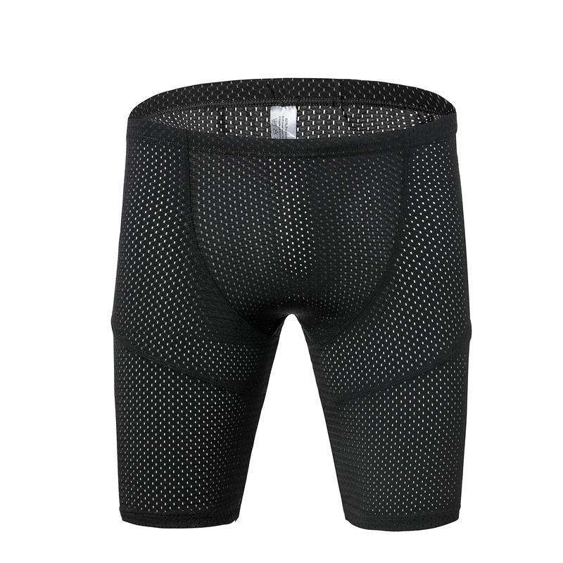 Pantalones de compresión para hombre de elasticidad de secado rápido Spandex Jogger Medias Pantalones de fitness Malla transpirable flaco Leggings pantalones SH19062701