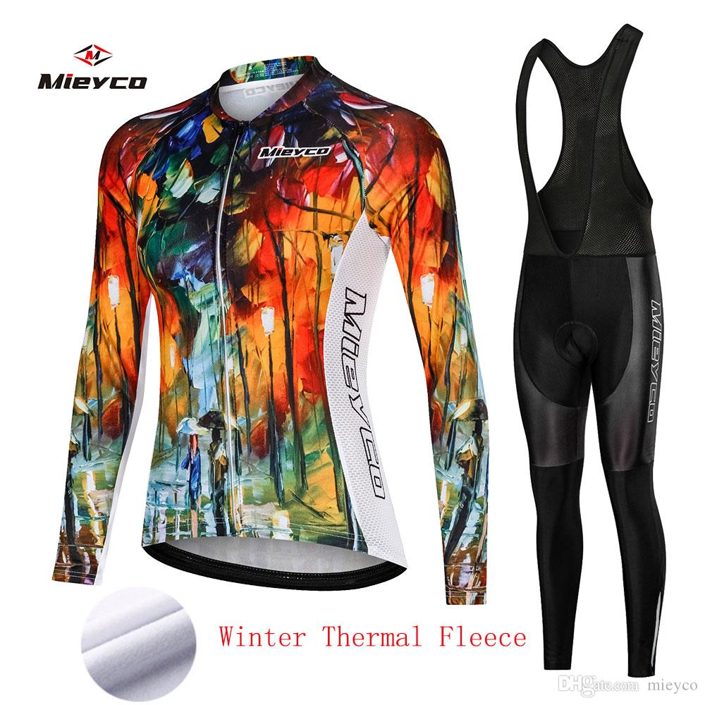 Kış Termal Polar bisiklet Jersey bisiklet pantolon set Bayan Ropa CİCLİSMO 3D bisiklet Maillot Mountian bisiklet giyim