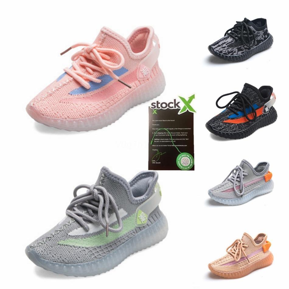 Toprak Kuyruk Işık Altı Zyon Kanye West Bebek Sneakes Küçük Boy Girl Toddl # 78 Ayakkabı Koşu 3M Yansıtıcı cüruf Keten Lundmark Bebek Çocuk