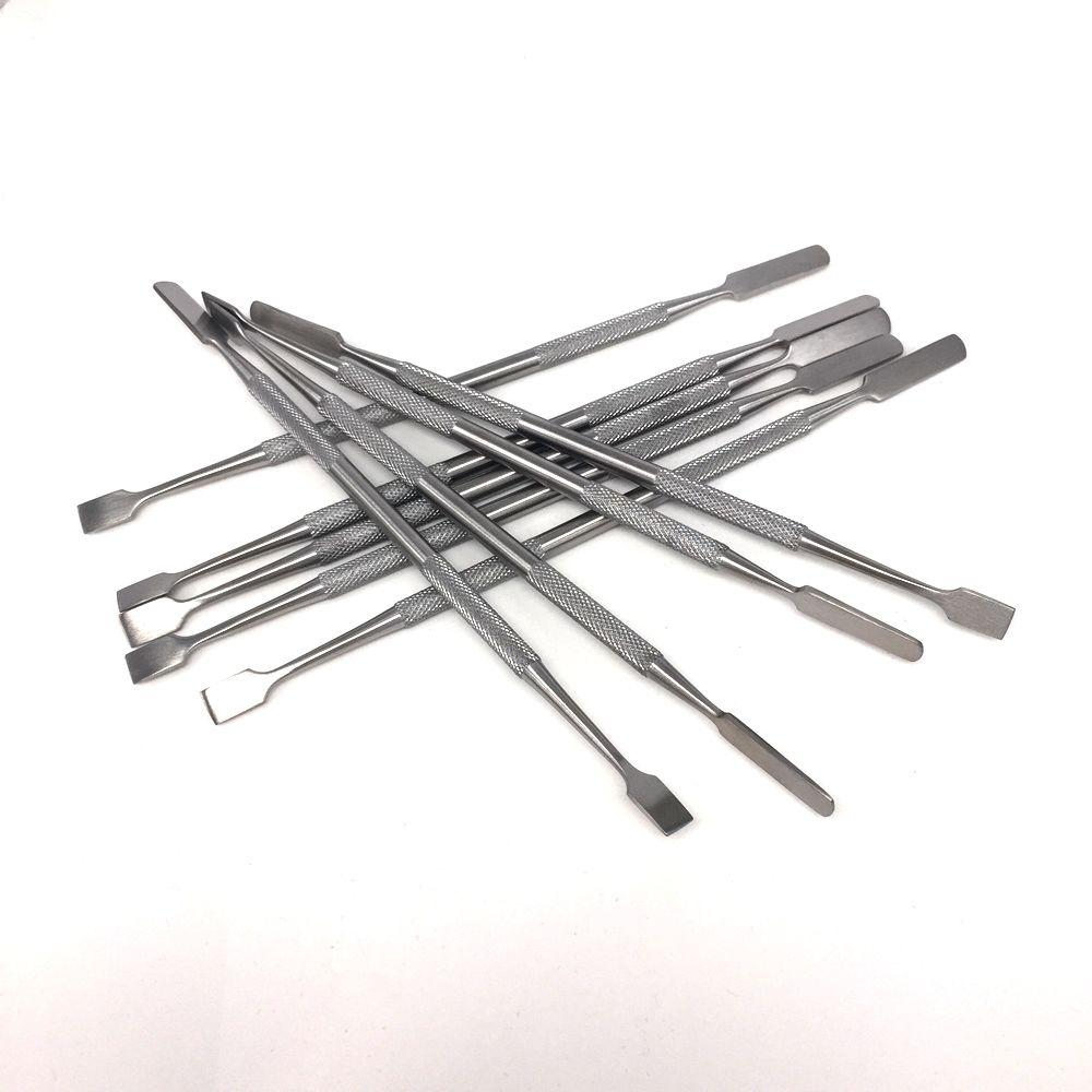 석유 장비 dabber 도구 dab 펜 도싱 왁 스 및 버터에 대 한 175 mm 스테인레스 스틸 왁 스 도구 건조 약초 프라이팬 vape 펜