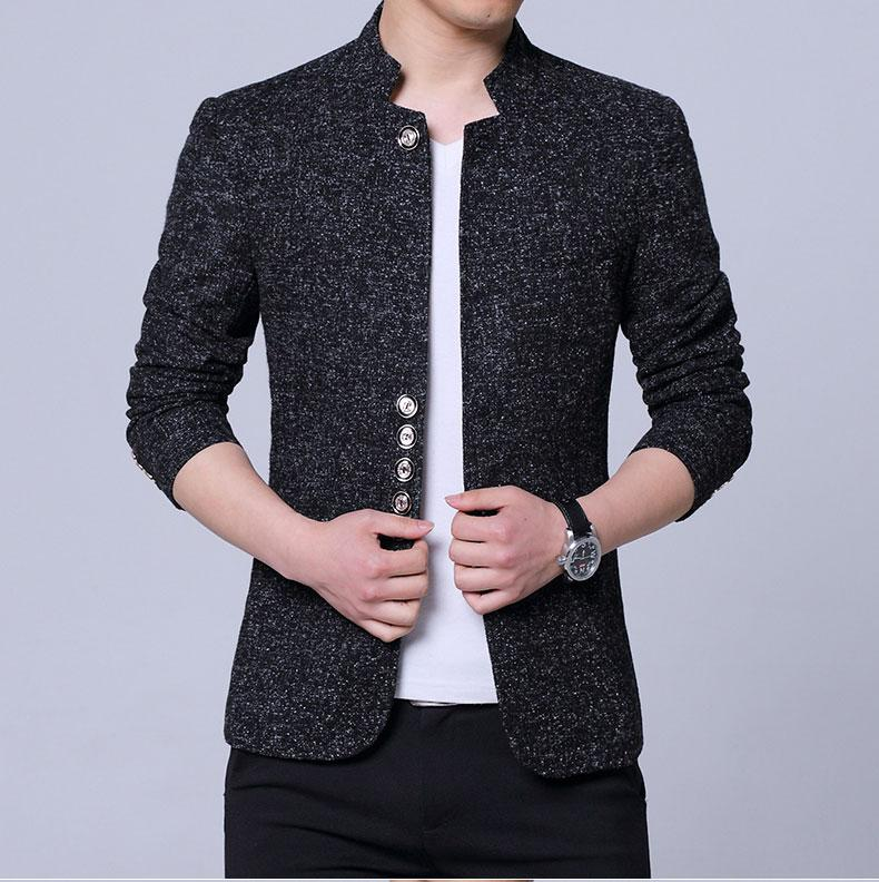 Homens blazer jaquetas masculino gola homem blazers slim fit mens blazer multi-grão fivela jaqueta roupas único oeste paletó