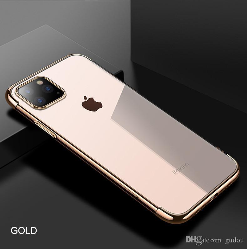 TPU galvanizados caso de telefone de silicone do telefone móvel para o iPhone 11 6s 7plus com 3 cores