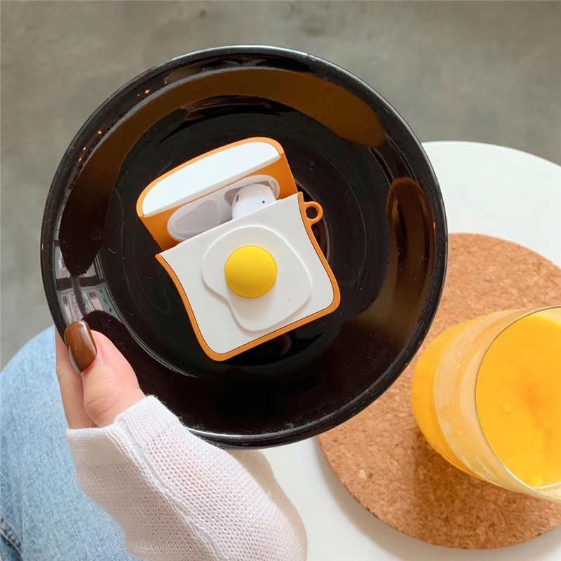Ovos brinde caso de fone de ouvido de silicone para airpods 2 Capa protetora para fone de ouvido da Apple sem fios Bluetooth protege suavidade shell