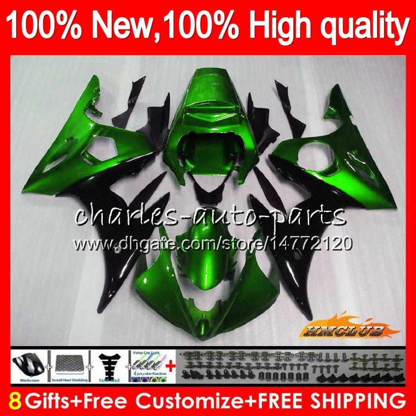 바디 키트 YAMAHA YZF600 YZF 600 R 6 600cc의 YZF R6 03-05 59HC.119 YZFR6 YZF600 YZFR6 03 04 05 2003 2004 2005 페어링 + 8Gifts 금속 녹색