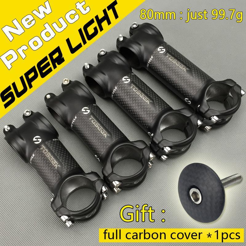 Nova liga de mountain bike + fibra de carbono Roda de corridas de carbono Haste MTB Peças de bicicleta 31,8 * 80/90/100 / 110mm super luz