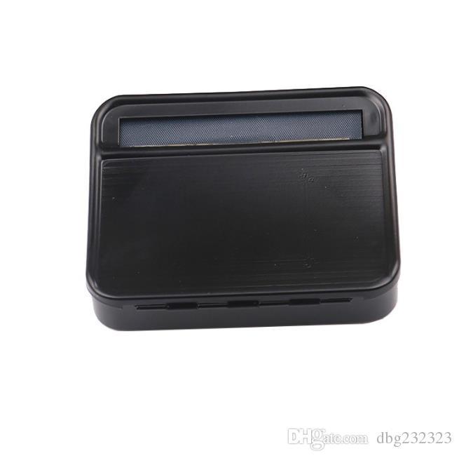 Fabricant manuel manuel portatif de cigarette de boîte en métal cortical en métal noir de boîte de cigarette de 78MM