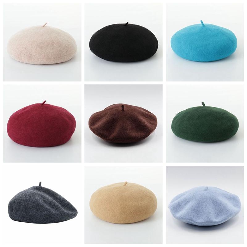 2019 Cappello Donne Beret femminile lana misto cotone Cap 20 di colore della nuova signora dei cappelli