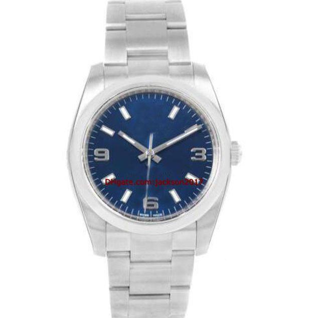 Рождественский подарок 8 стиль 03 мужские часы 36 мм часы из нержавеющей стали 116900 77080 114200 116000 114200 114210 Передвижение автоматических наручных часов
