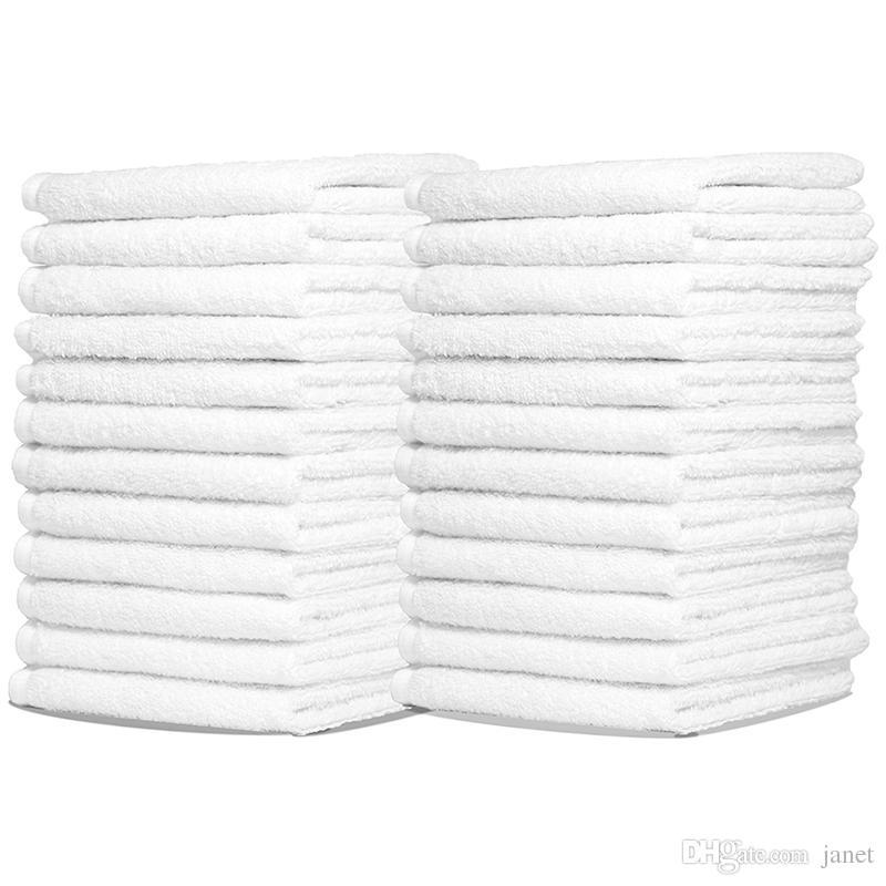 New 100% Cotton Hotel Guest House Bath Towels White Color Towel Soft Bathroom Supplies Unisex Usage Natural Safe Towels 70*140Cm 400G