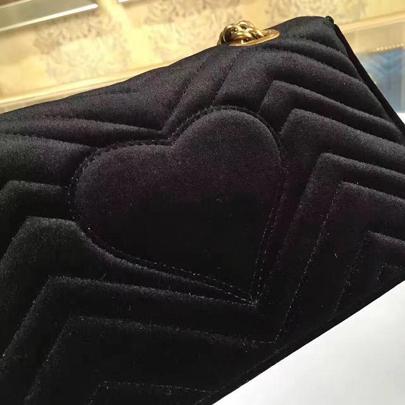 Spalla Top Nuovo singolo sacchetto di cuoio di qualità europea di stile Velvet Fashion della borsa di colore del modello della banda tromba e catena di metallo