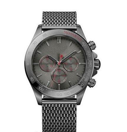 neues klassische Art und Weise freies Verschiffen Modell Quarzuhr Männer Ikon Grey Steel Chronograph 1513443
