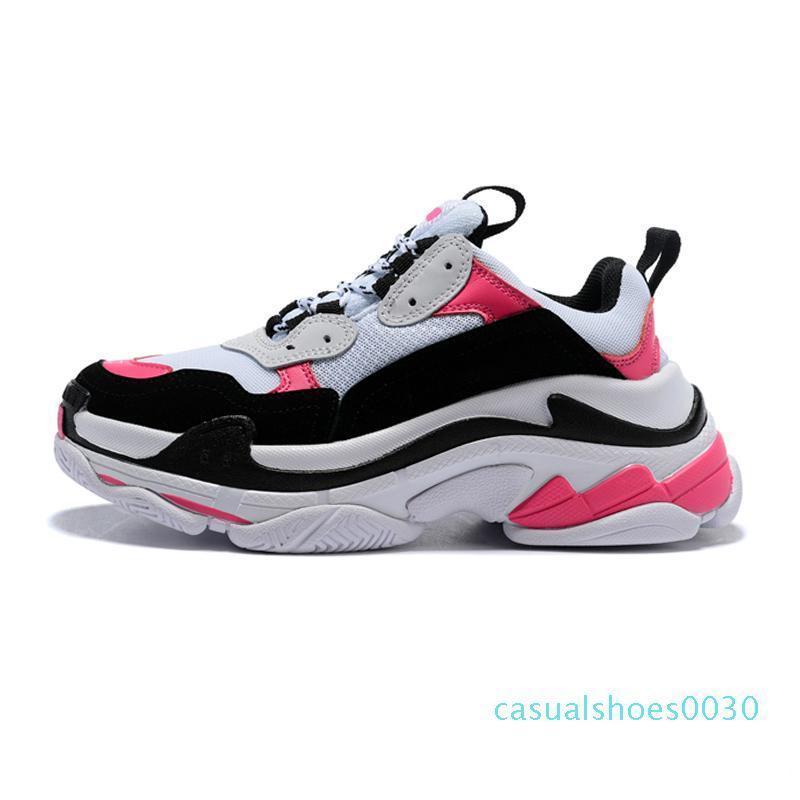 2020 nuevo cristal de lujo de zapatos casuales triple cuenta de la zapatilla de deporte S 2,0 diseñador Old Dad la zapatilla de deporte para hombre Botas Mujeres Zapatos Casual las zapatillas de deporte c30