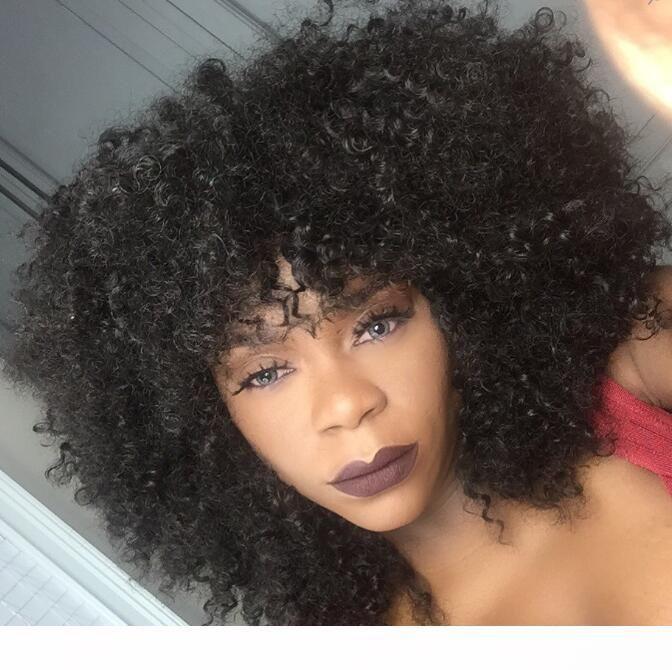14inch 360 Кружева Фронтальная парик кудрявый завитые Glueless 360 шнурка человеческих волос Парик 4б 4в Afro Kinky завитые парик волос для чернокожих женщин