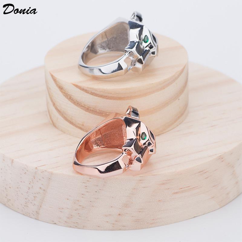 Donia Schmuck hot Ring Mode Pop Intarsien Zirkon Leopard Kopfring Europa und den Vereinigten Staaten kreative Männer und Frauen Ring Hand jew