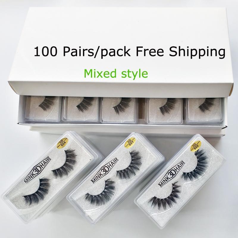 Cílios atacado 20/30/50/100 pares 3D Mink Lashes falsas naturais Maquiagem Cílios Feito à Mão longos cílios 3d Mink