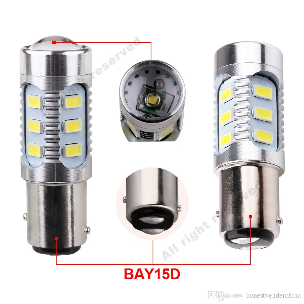 2pcs led Chips 1157 BAY15D Bulbs 12 led 5630 smd High Power lamp brake Lights Red p21/5w led car bulbs Car Light Source 12V