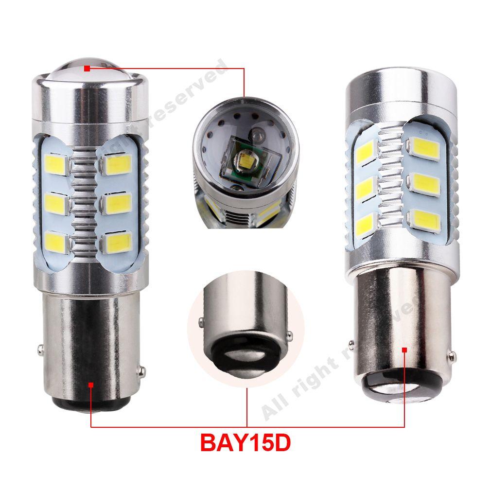 2pcs led 칩 1157 BAY15D 전구 12 led 5630 smd 높은 전원 램프 브레이크 조명 레드 p21 / 5w led 자동차 전구 자동차 광원 12V