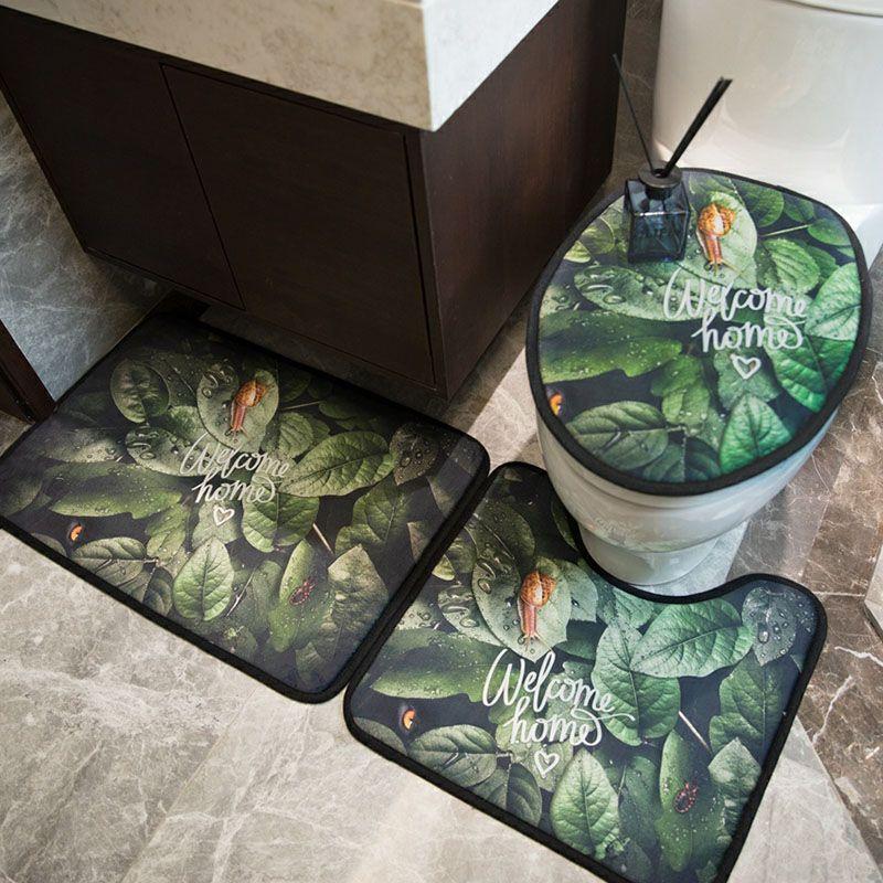 Simple Style Printed Toilet Seat Covers Fashion Non-Slip Bathroom Mat High Quality Bath Mats Bathroom Accessories