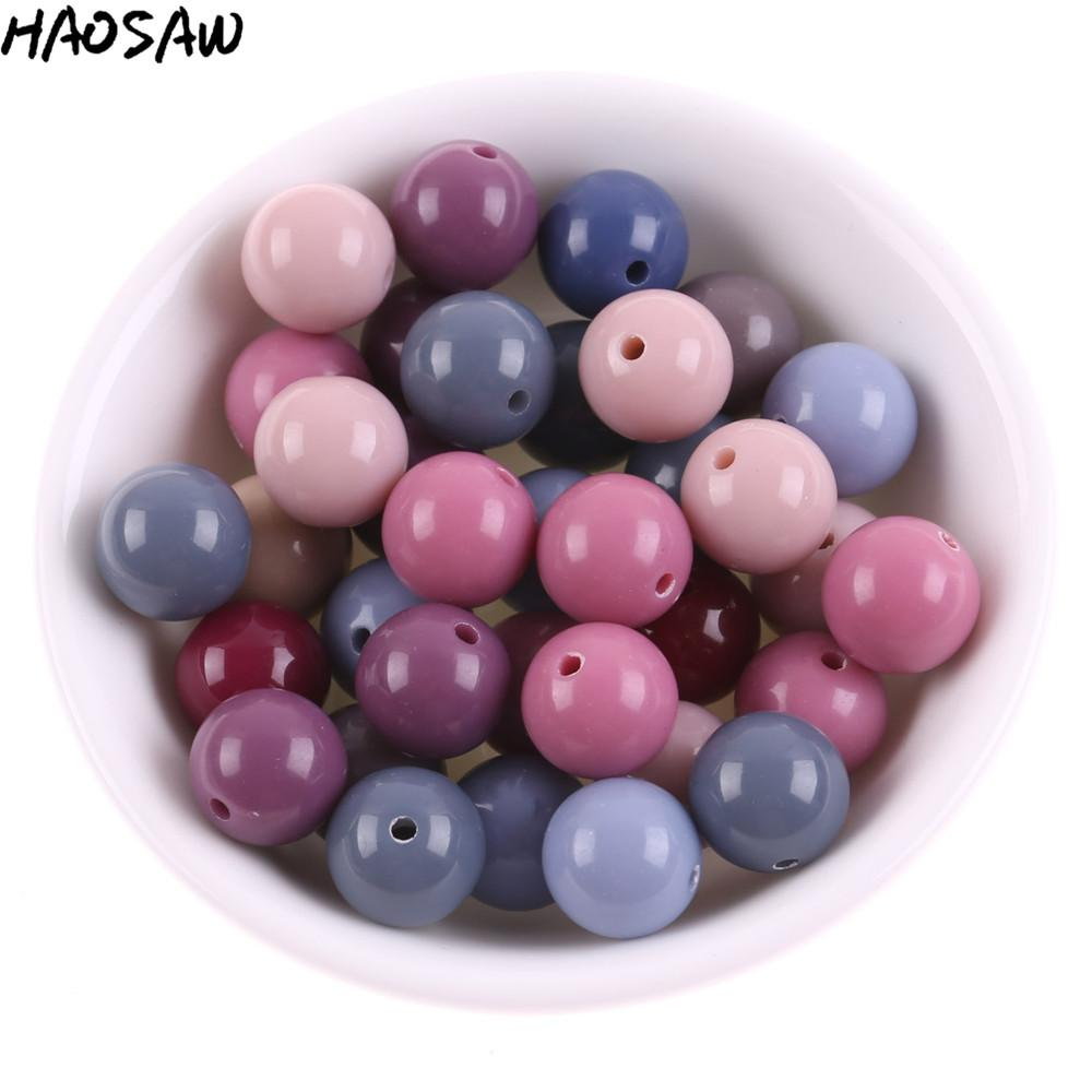 크기 선택 패션 쥬얼리 액세서리 Chunky Gumball Bubblegum Acrylic Beads DIY Jewelry Findings를위한 Chunky Solid Beads