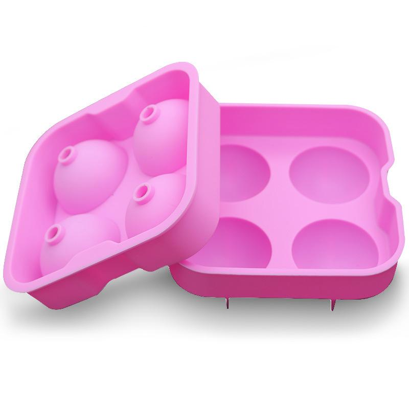 Silicone Molds 4 Hole Food Grade Silica Gel Circular Mould Ice Ball Lattice Creative Pink Moulds Factory Direct Selling 4 7zc p1