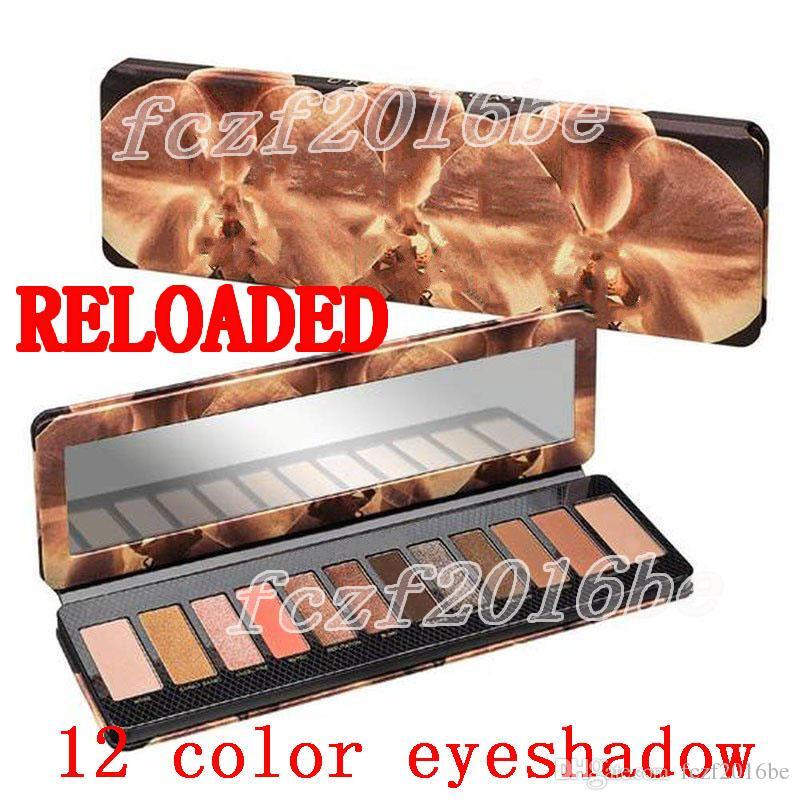 marca Hot paleta sombra de olho RELOADED 12 cores Eye sombra NU Maquiagem Sombra Beleza Paleta Matte Shimmer cosméticos DHL