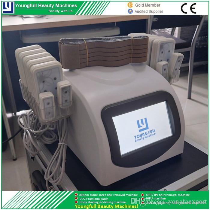 Lipo Laser abnehmen Maschine Körper Gesicht Arm Bein Fettentfernung Salon Schönheit Ausrüstung CE approvedone Jahre Garantie