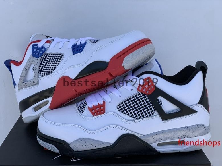 2019 4С ЮВ, что 4 мужской баскетбол обувь размер высокое качество Белый военного синий огненно-красный техник серый CI1184-146 дизайнер кроссовки 13