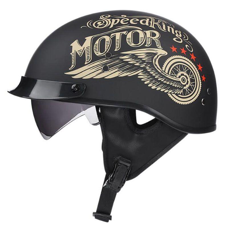 VOSS Retro Motorcycle Helmet Moto Helmet Scooter Vintage Half Face Biker Motorbike Crash Moto Helmet Casco Moto ,M/L/XL/XXL
