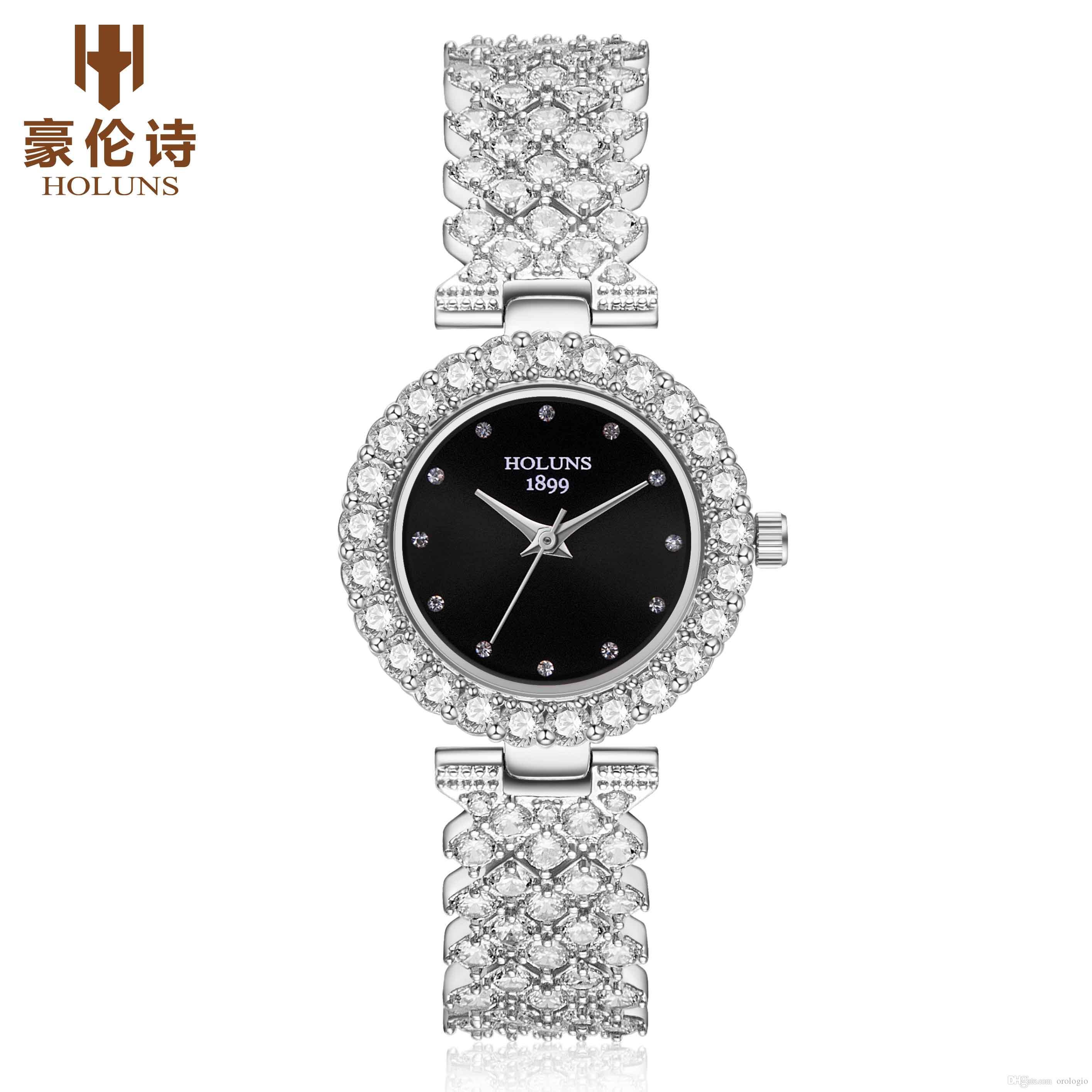 2019 HOLUNS marque luxe femmes diamant montres Japon quartz 5 atm étanche dames regarder en acier inoxydable mode reloj mujer BRW