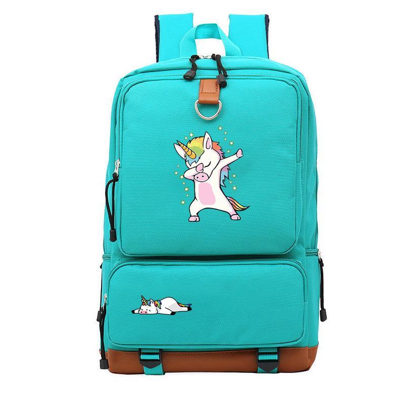Casual Unicorn Bags Man Women Backpack Teens Boys Girls Daily