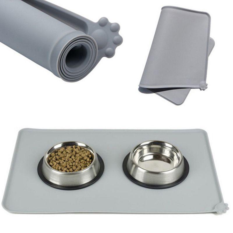 ماء الحيوانات الأليفة تغذية حصيرة سيليكون كلب جرو السلطانية وسادة تغذية التنسيب الكلب اكسسوارات طوي
