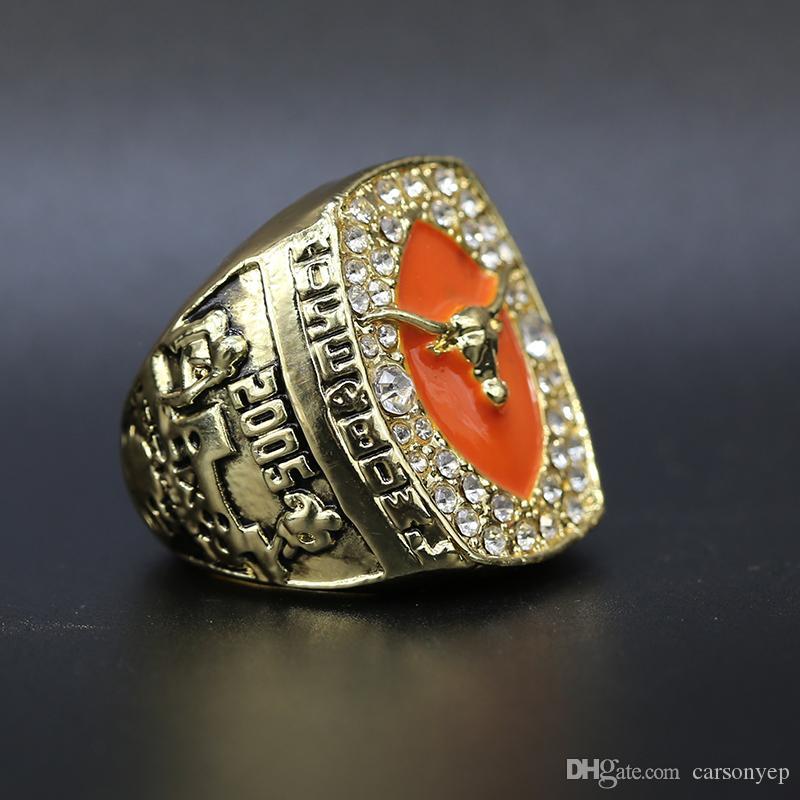 2005 Texas Longhorns Football Rose Bowl Championship Ring Souvenir Männer Fan-Geschenk-Tropfen-Verschiffen