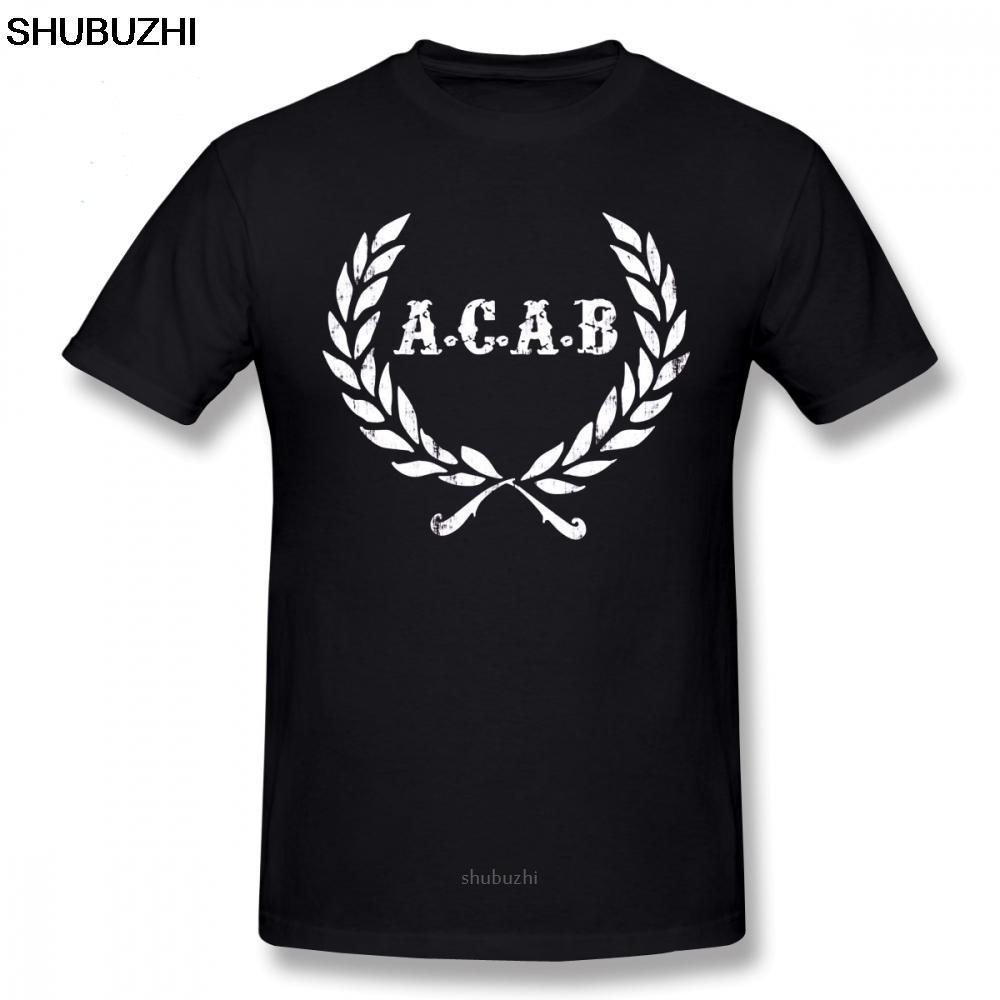 Acab camiseta A C A B Fútbol Fútbol ACAB Hombres camiseta Imprimir Camiseta de algodón divertido de manga corta camiseta de la playa 6xl