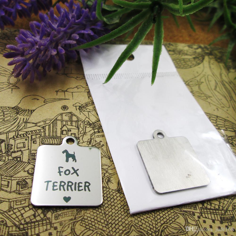 40pcs - «Фокс-терьер собака» прелесть нержавеющей стали больше стиля для выбора DIY очаровывает подвески для ожерелья