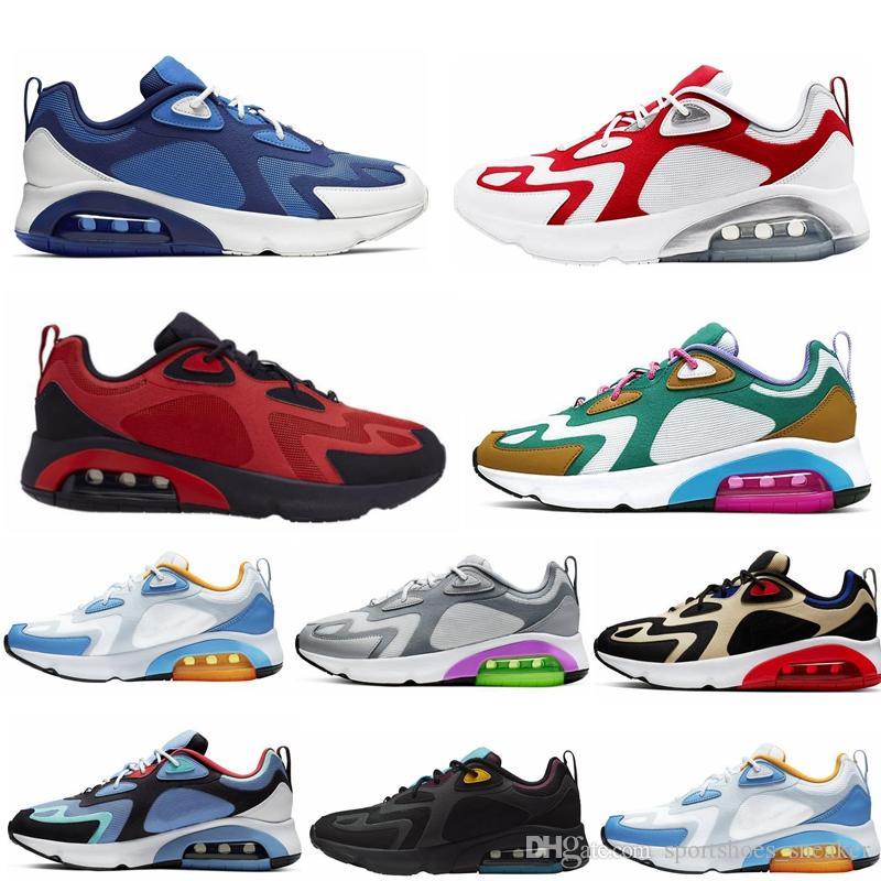 2020 الأزياء والأحذية الجديدة 200 رجل المرأة Runnig 200 جامعة بوردو الأحمر الصوفي الأخضر قوس قزح الملكي نبض مصمم الأحذية الرياضية في الهواء الطلق