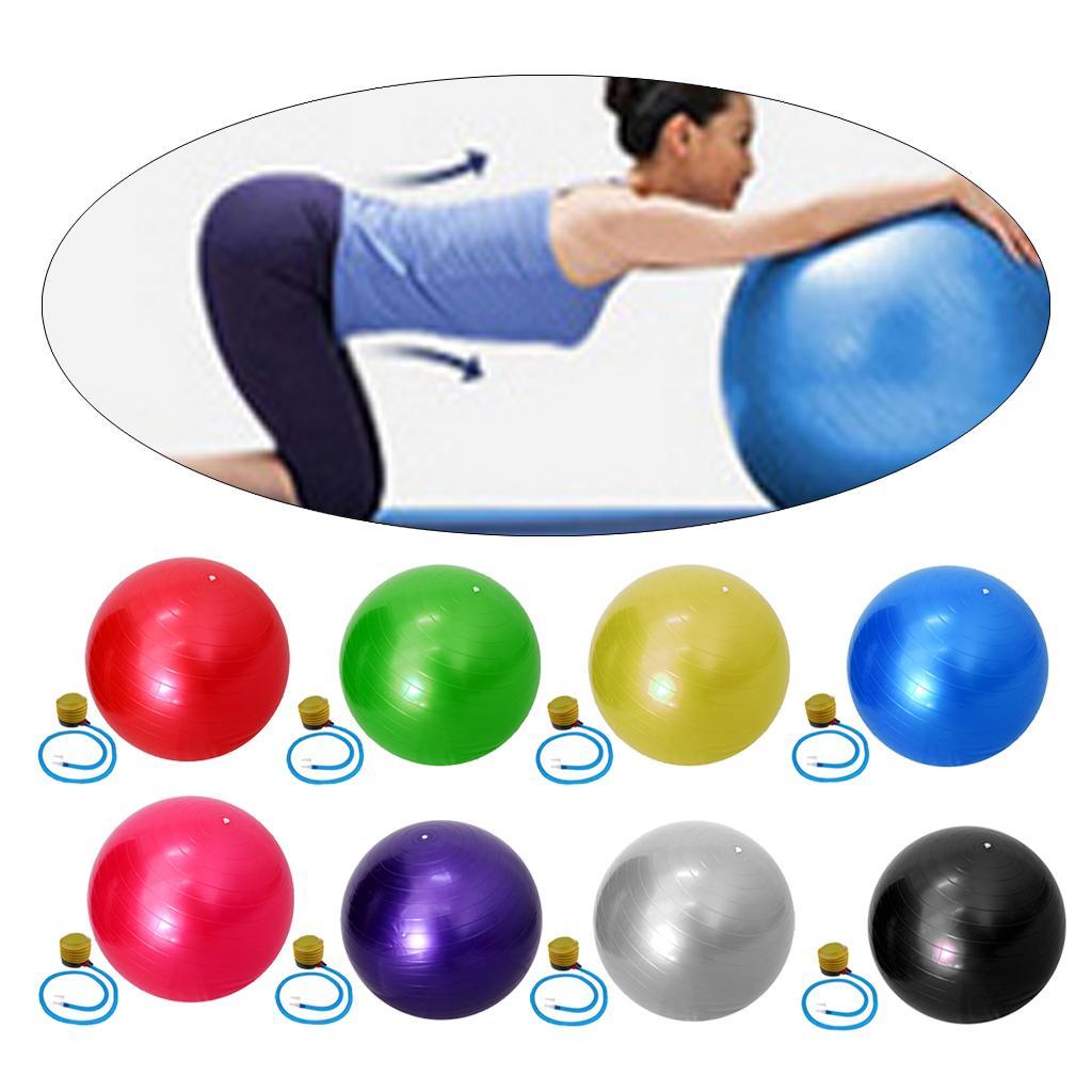 Yoga exercício bola com 55 centímetros Bomba Anti-estourar fitness exercício Fitball para Yoga Pilaties Núcleo Exercícios Gravidez Parto