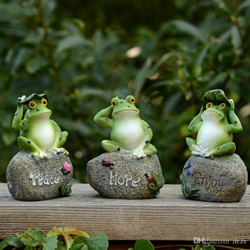 2019 Home Garden Resin Decoration Outdoor Art Resin Animal Figurine Frogs Chicks Rabbits Ornament Yard Garden Decor From Deze 12 49 Dhgate Com