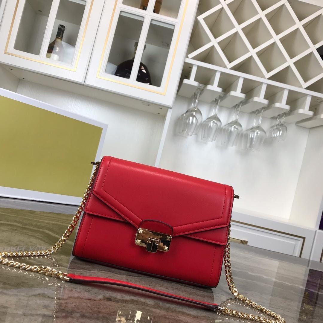 Новая женщины типа плечо сумка из натуральной кожи сумка золотой цепи Crossbody сумка большой емкость откидной крышки конверт сумка небольшого лоскут мешок