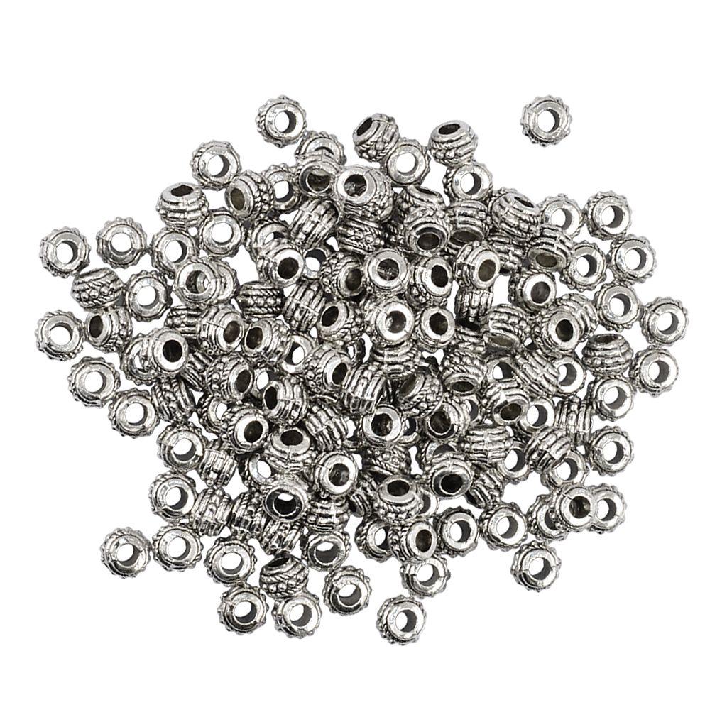100 pièce ronde en alliage Spacer Roue Rondelle perles en vrac perles bijoux pour 8 mm de conclusions au bricolage Collier Bracelet
