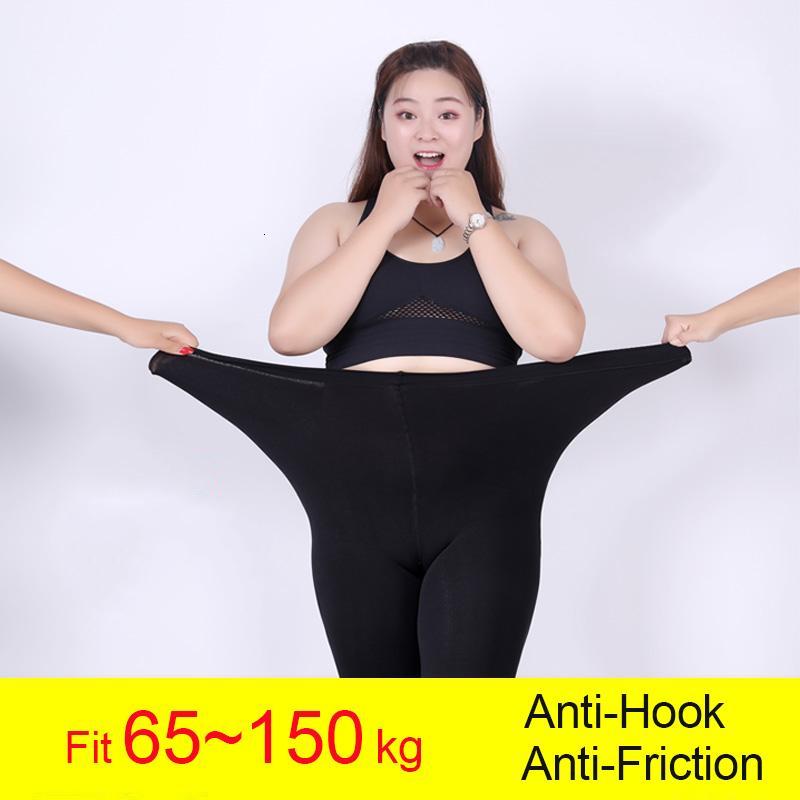 600D Nueva invierno gruesa medias más el tamaño Mujeres Anti-gancho resistente a la rotura super elástico de gran tamaño de color opaco Panti Mujer CJ191209