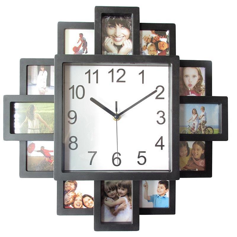 إطار الصورة ساعة الحائط الجديد اليدويه الحديثة ديساي الفن صورة على مدار الساعة غرفة المعيشة ديكور المنزل ووتش