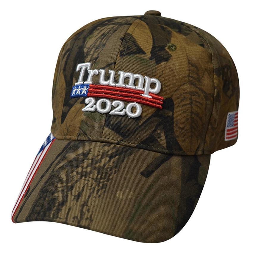 Donald Trump 2020 Şapka Kamuflaj 3D Nakış Spor Baseball Cap Başkanı Trump Seçim Cap Parti Şapka ZZA2128