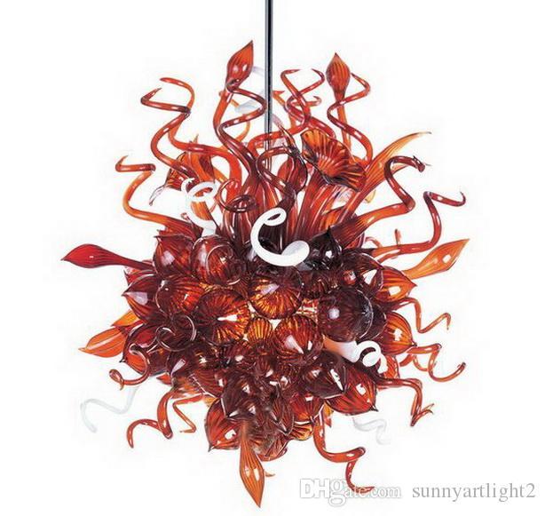Tamanho pequeno Mão Blown Vidro Pingente Lâmpadas de Vidro Murano Chihuly Estilo Lustre de Cristal de Luz para Casa