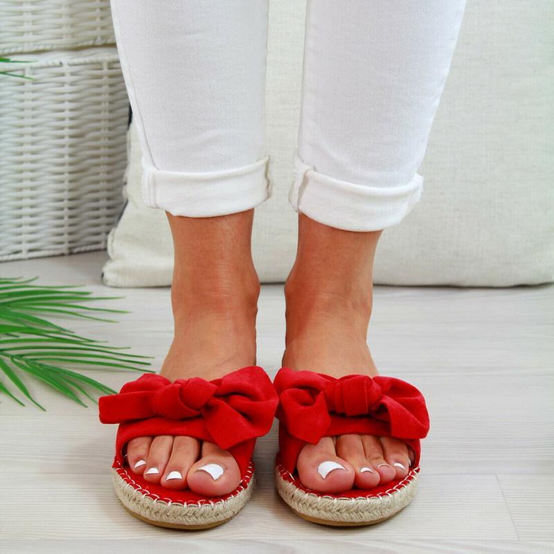 Oeak المرأة الصنادل القوس صنادل الصيف النعال المرأة شاطئ الصيف داخلي أحذية في الهواء الطلق أنثى زهري أزياء أحذية قطرة شحن