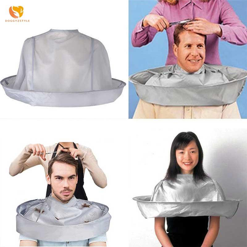 DIY Hair Cutting Cloak Adult Foldable Umbrella Cape Salon Barber Hair Styling Accessory Home Hairdressing Cape Cover Cloth