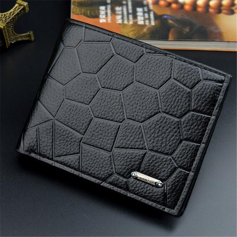 Balck Top Quality Men Leather Vintage Dragon Wallet with Chain Card Holder Purse