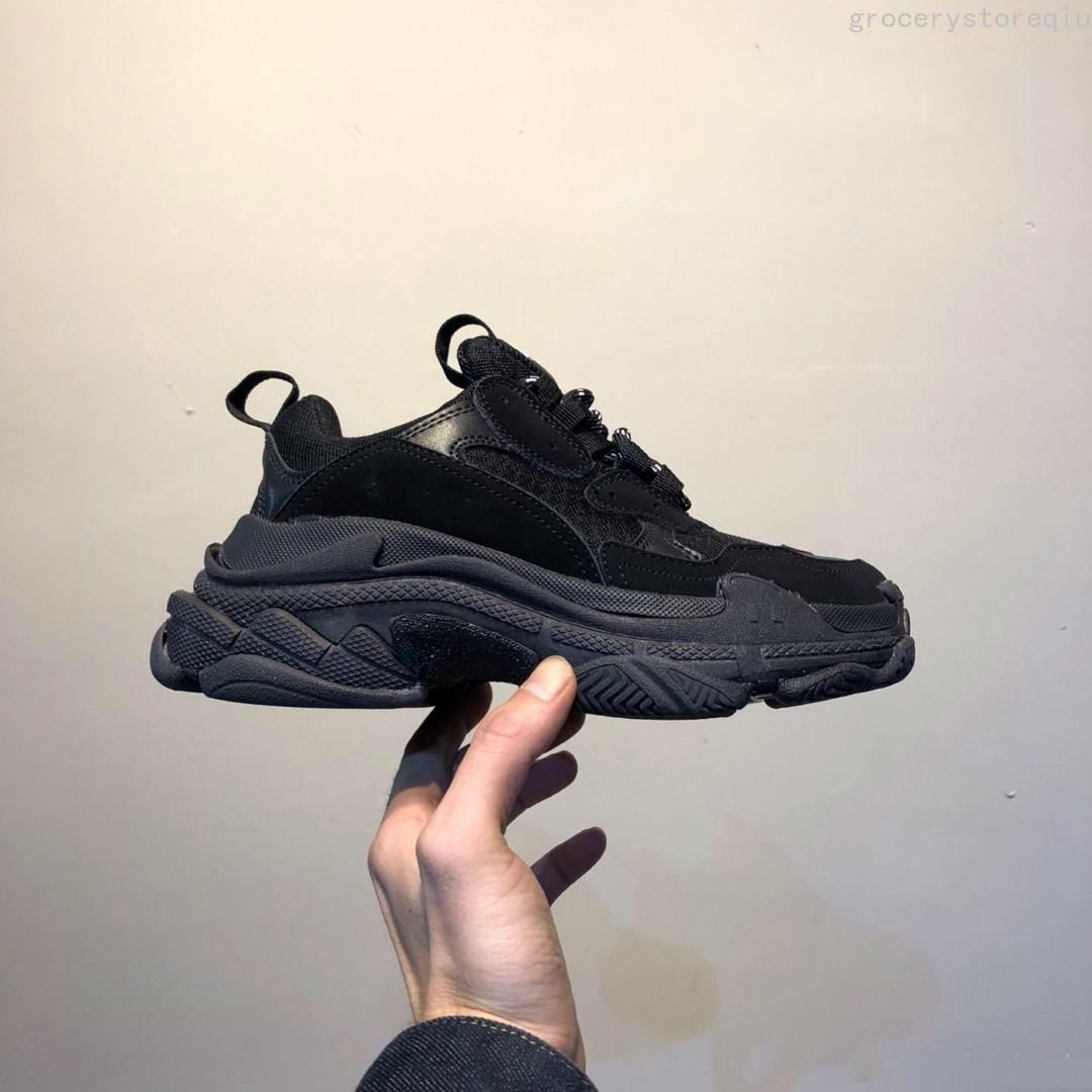 Sapatos casuais sapatos de luxo 17fw Triple-s papai para as mulheres dos homens Bege preto Ceahp esportes designer triplo s sapatos tamanho 36-45