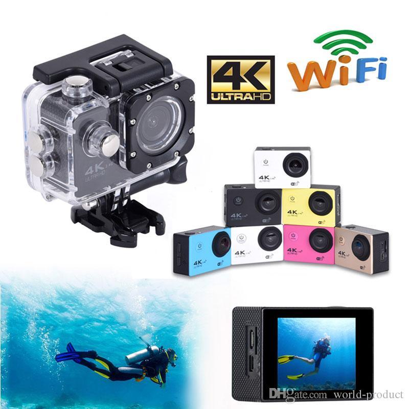 "H12R 2 ""Waterproof Sport DVR Camera Ultra HD 4K Action Camera Dash Cam Wifi Remote Control 1080P WIDE ANGLE 170 degree"