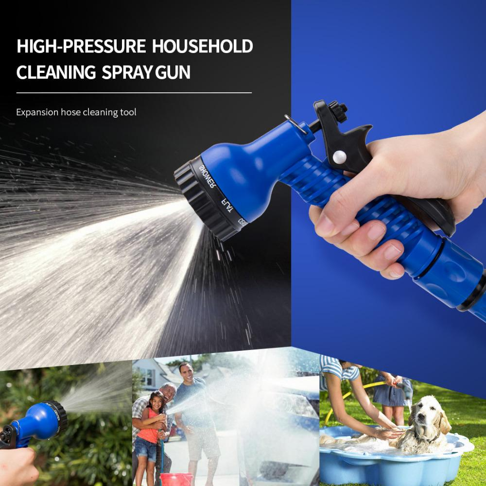 75FT Garden Hose Magic Latex Tube Expandable Flexible Water Retractable Tube for Car Watering Irrigation Hose With Spray Gun